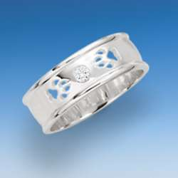 Eleganter Ring mit Hundepfoten