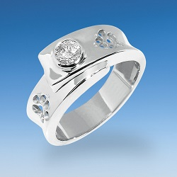Eleganter Ring mit Hundepfote